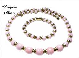 Prettiest Pieces Necklace and Bracelet signed Avon