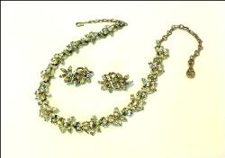 Floral Links On This Coro Necklace Earring set