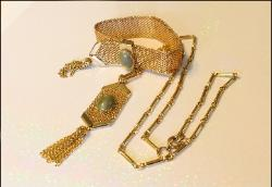 Celebrity Tassel Vintage Necklace and Bracelet