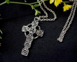 Modernistic Late 1960 Cross Necklace | Religious Jewelry