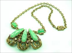 Purple White and Green | Suffragette Victorian Revival Necklace