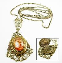 Picture Locket Vintage Necklace