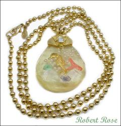 Robert Rose Fishbowl Pendant Necklace