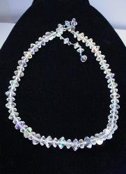 Vintage Faceted Crystal Necklace