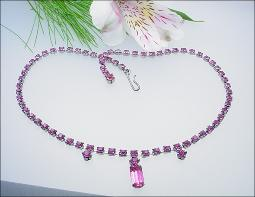One Strand of pinks, RS elegant necklace