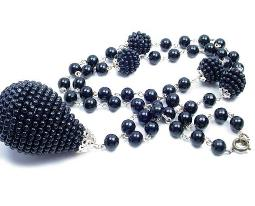 Flattering Black Lucite Babbles and Beads