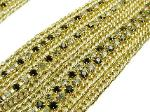 Black and Crystal Chains, multi-strand goldtone chain necklace