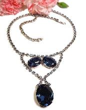 Cobalt Blue Large Oval Stones RS Necklace