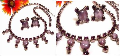 Amethyst Purple Choker & Earring Set
