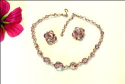 1950's Vintage Necklace Paure Necklace & Earrings