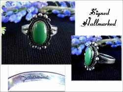 Hallmarked Turquoise Ring, Signed Sterling Arrow Hallmark