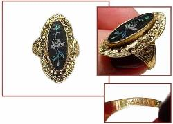 14KT GE Adjustable Ring