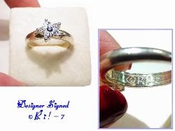 Designer Signed R i ! - 7 . Size 7 Star Ring