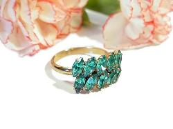 Teal Marquise Vintage Ring