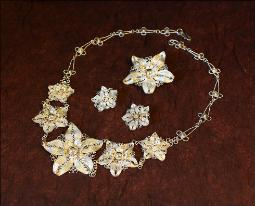 1980s Lighter weight spun silver parure