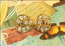 3-Dimensional Coro Earrings Vintage Fine Jewelry