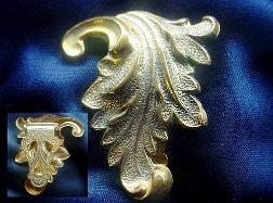Scrolled Gold Victorian Dress Clip
